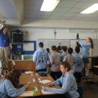 Barbie Bungee jumping in 8th grade math