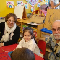 Grandparents' Day in the Preschool and Pre-K Classrooms at St. Justin School