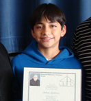 100th Mass Certificate for a Sixth Grade Student